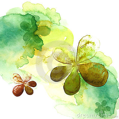 Free Watercolor Painting Of Flower Stock Photos - 12251893