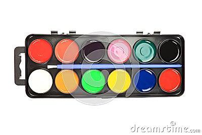 Watercolor palette.