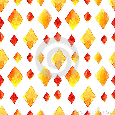Watercolor rhombus seamless pattern