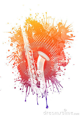 Free Watercolor Saxophone Royalty Free Stock Image - 19647646