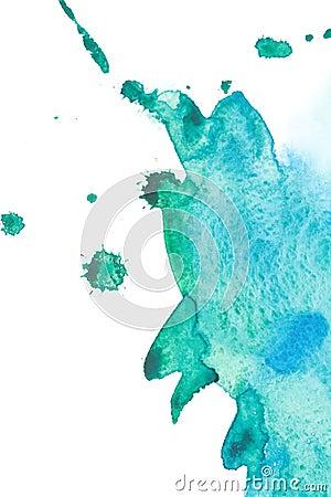 Watercolor sea wave splash