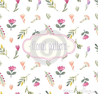 Free Watercolor Seamless Floral Pattern. Stock Image - 44395711