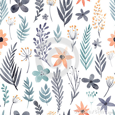Free Watercolor Seamless Pattern Stock Photo - 53918070