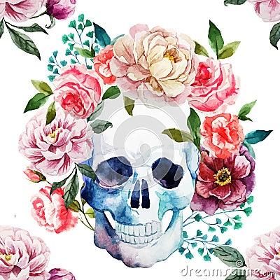 Free Watercolor Skull Stock Photos - 54983483