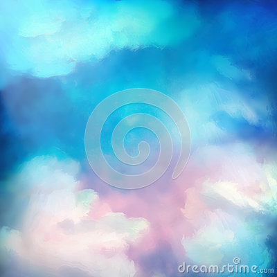 Free Watercolor Sky Painting Vector Background Royalty Free Stock Photo - 57296255