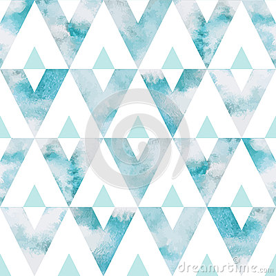 Free Watercolor Sky Triangles Seamless Vector Pattern Royalty Free Stock Photo - 56882075