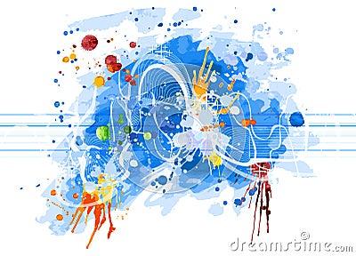 Watercolor sound wave