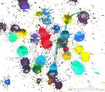 Watercolor Splashes Royalty Free Stock Photography - Image: 19890797