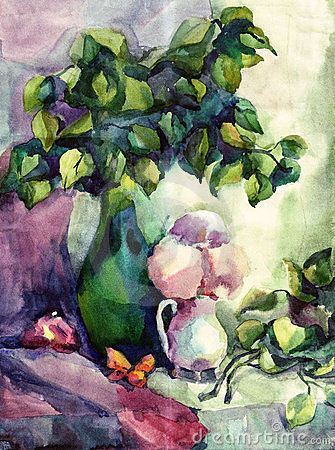 Free Watercolor Still Life Royalty Free Stock Photography - 6783117