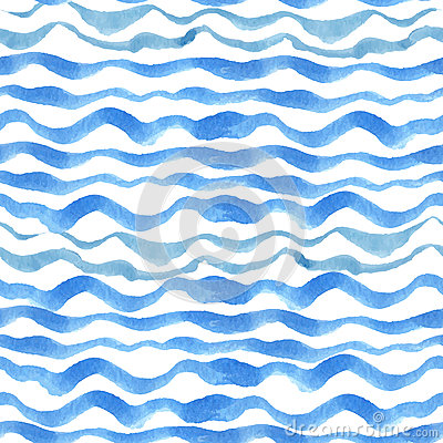 Free Watercolor Strips Seamless Pattern Set.Blue Cyan Royalty Free Stock Images - 58355659