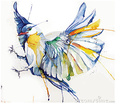 Free Watercolor-style Vector Illustration Of Bird. Royalty Free Stock Photo - 51178645