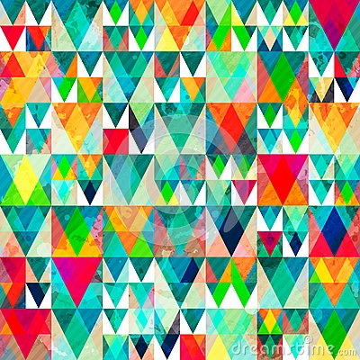 Free Watercolor Triangle Seamless Pattern With Grunge Effect Royalty Free Stock Photo - 50890735