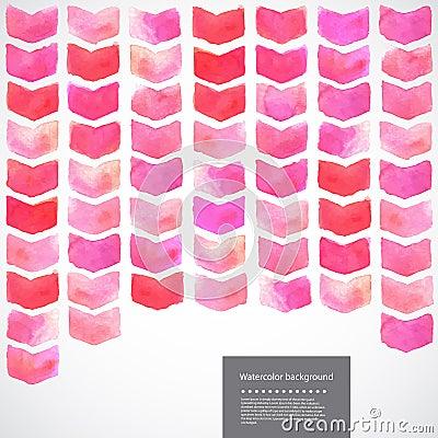Free Watercolor Vector Geometric Chevron Illustration Royalty Free Stock Photos - 45842708