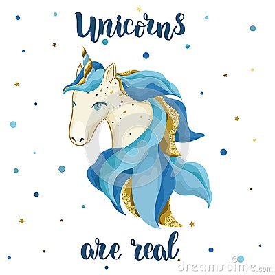Free Watercolor Vector Hand Drawn Unicorn. Royalty Free Stock Photo - 107789745