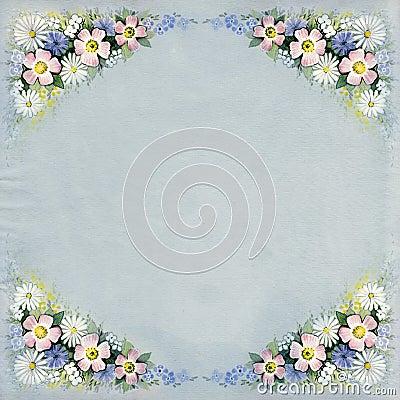 Watercolor vintage floral background