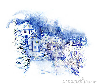 Watercolor -Winter Wonderland-