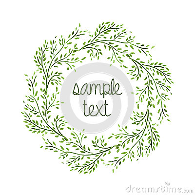 Free Watercolor Wreath Stock Photography - 42294282