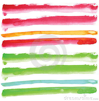 Watercolour line element