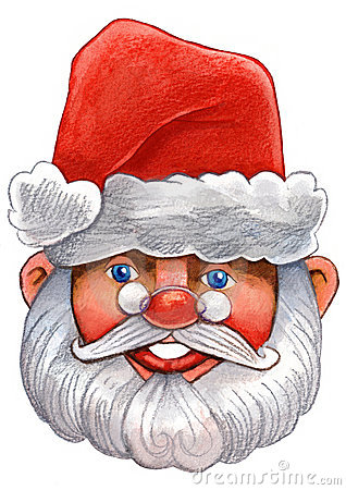 Watercolour  santa claus