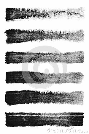 Free Watercolour. Set Of Abstract Black Watercolor Stroke Backgrounds. Royalty Free Stock Photo - 110370445