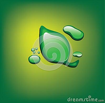 Waterdrop green leave