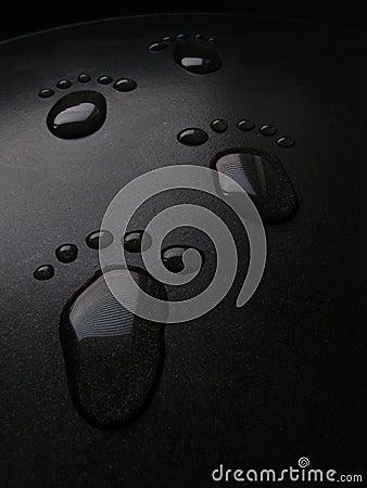 Waterdrops Footprints