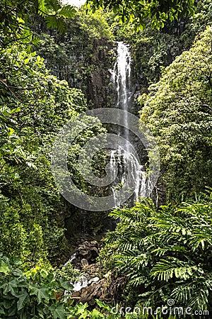 Free Waterfall At Haleakala National Park, Maui, Hawaii Royalty Free Stock Image - 83661366
