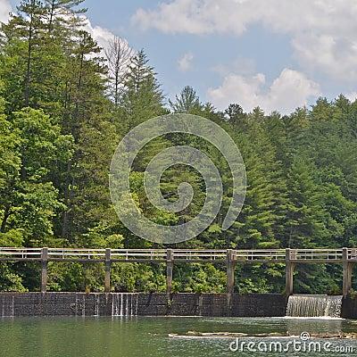 Free Waterfall At North Carolina Lake Royalty Free Stock Photography - 48569257