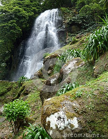 Waterfall at the Azores