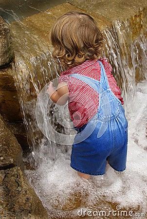 Waterfall baby