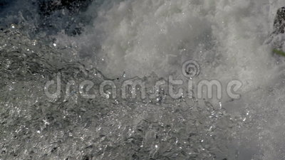 Waterfall background in slow motion stock video footage
