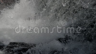 Waterfall background in slow motion stock video