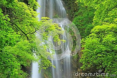 Waterfall of Bad Urach, Germany