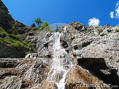 Waterfall from below
