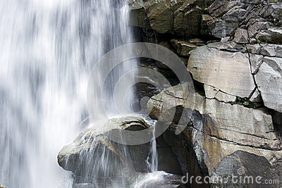 Waterfall With big rocks