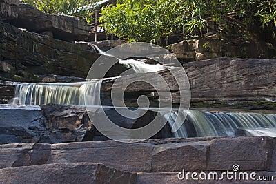 Waterfall on the big rocks
