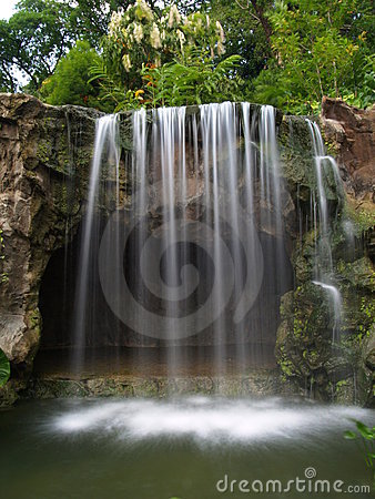 Waterfall at botanic garden