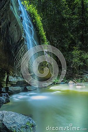 Free Waterfall Buderim Portrait Serenity Galls Stock Photo - 83553190