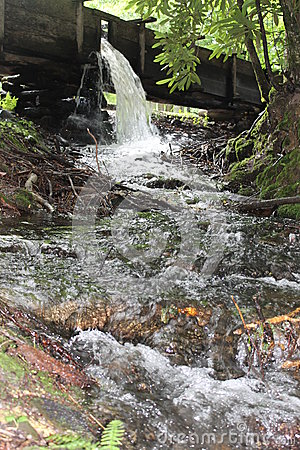 Waterfall at Cable Mill in Cades Cove