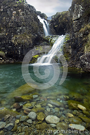 Free Waterfall, Cuillin Mountains, Isle Of Skye , Scotland Royalty Free Stock Photos - 32369778