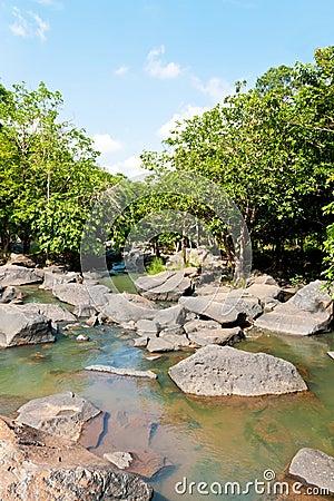Waterfall on daylight in Asia