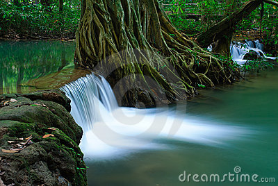 Waterfall in deep forest of Krabi,Thailand
