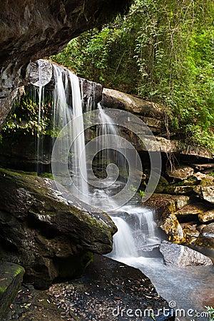 Waterfall in deep jungle
