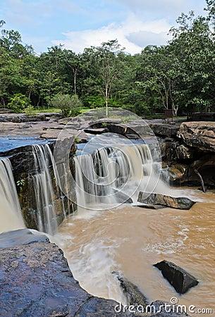 Waterfall after heavy rain