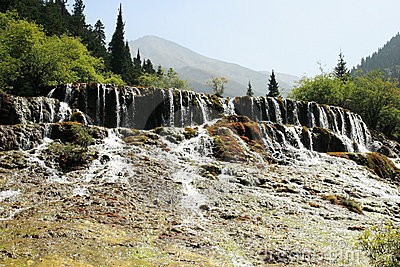 Waterfall Of Huanglong National Park Royalty Free Stock Photography - Image: 15473007
