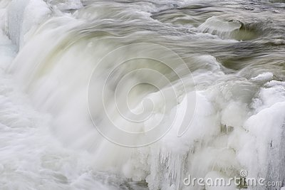 Waterfall with Ice
