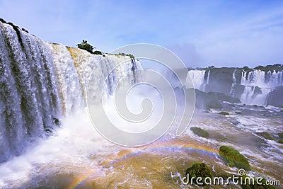 The waterfall  Iguazu. The Brazilian side