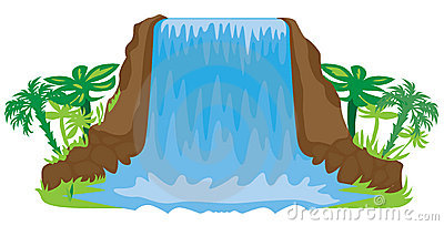 waterfall illustration royalty free stock photos image