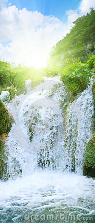 Free Waterfall In Deep Forest Stock Images - 6654514