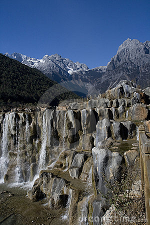Waterfall at Jade Dragon Snow Mountain